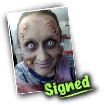 Signed Photograph - Pamela Kempthorne as Zombie